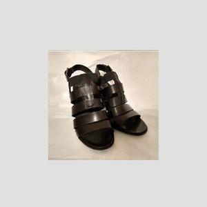Franco Sarto_leather block heel